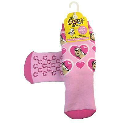 Promo Bugzz Pony Socks Childrens Toddlers Non-Slip Wellie Boot Slipper Socks • 3.79£