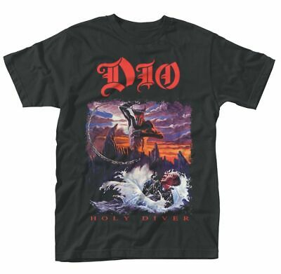 Official Dio T Shirt Holy Diver Black Mens Classic Punk Rock Metal Tee NEW • 13.94£