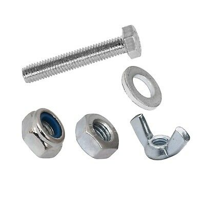 £7.11 • Buy Set Screws Full Thread Bolts With Nuts And Washers  M3 M4 M5 Bzp Bolt