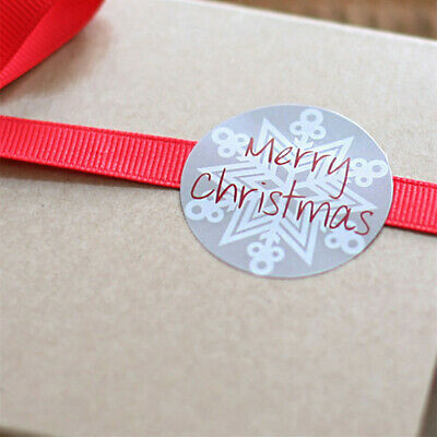 £2.46 • Buy 105x Merry Christmas Card Envelope Seal Stickers Badge Snowflake Gift Tags 35mm