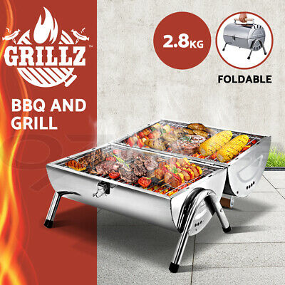 AU36.90 • Buy Grillz Charcoal BBQ Grill Smoker Outdoor Kitchen Portable Camping Foldable