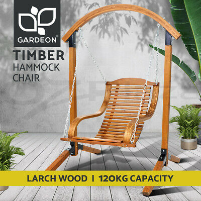 AU214.90 • Buy Gardeon Outdoor Furniture Lounge Swing Hammock Chair Timber Wooden Patio Chairs