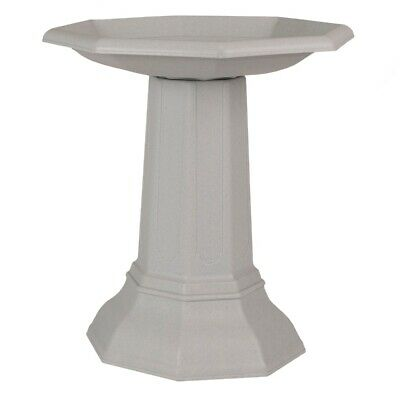 Cranford Granite Plastic Wild Bird Bath Ornamental Bowl Garden Outdoor Pedestal  • 79.99£