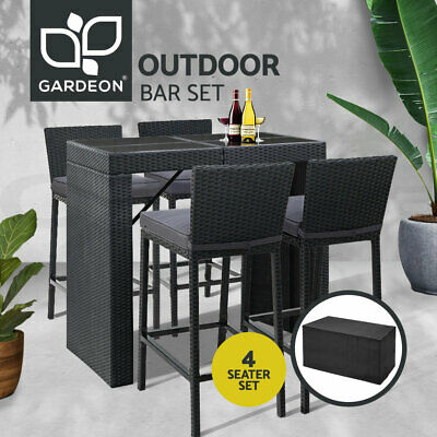 AU594.99 • Buy Gardeon Outdoor Bar Table Furniture Dining Chairs Stools Set Rattan Patio Lounge