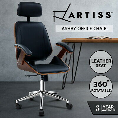 AU194.95 • Buy Artiss Wooden Office Chair Computer Gaming Chairs Executive Seating Black