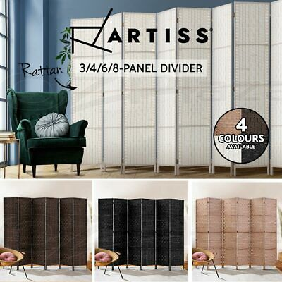 AU85.95 • Buy Artiss 3/4/6/8 Panel Room Divider Screen Privacy Dividers Stand Wood White Black