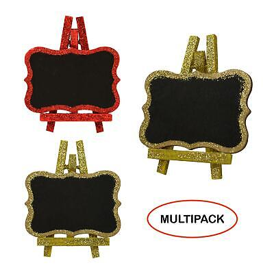 £7.49 • Buy Mini Chalkboard Name Message Boards Christmas Wedding Party Glitter Gold Red