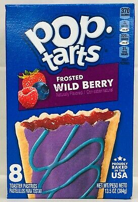 £3.87 • Buy Kellogg's Pop Tarts Frosted Wild Berry Toaster Pastries 13.5 Oz