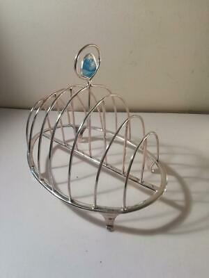 An Antique George III Six Division Silver Toast Rack : London 1797 • 285£