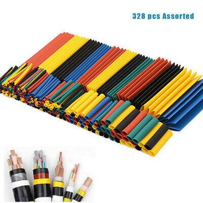 328 Pc Heat Shrink Tubing Electric Insulation Tube Heat Shrink Wrap Cable Sleeve • 3.95£