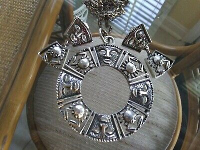 Vintage Sarah Coventry Talisman Of Love Set Earrings Necklace Mask Crab Zodiac • 14.99$