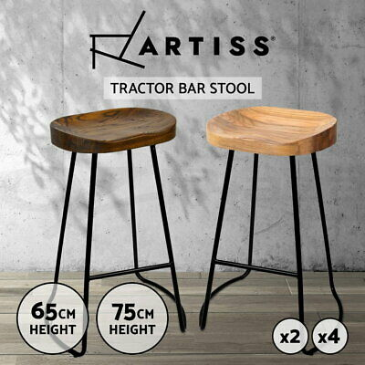 AU115.95 • Buy Artiss Kitchen Tractor Bar Stools Vintage Stool Industrial Retro Chairs Wooden