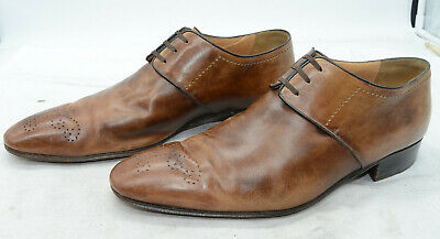 $ CDN104.59 • Buy Star Artioli Hanmade In Italy Mens Sz 9 Office Dress Tan Leather Oxfords Shoes