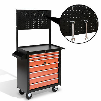 View Details Rolling Tool Chest Cabinet Cart Toolbox Storage Box 7 Drawers Hanging Organizer • 39.99$