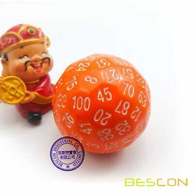 AU22.98 • Buy Bescon Polyhedral Dice 100 Sides Dice,100 Sided Cube,D100 Game Dice Orange Color