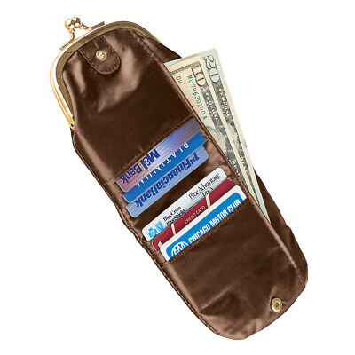 $7.99 • Buy Black Vintage Style Coin Purse For Women With RFID Credit Card Wallet