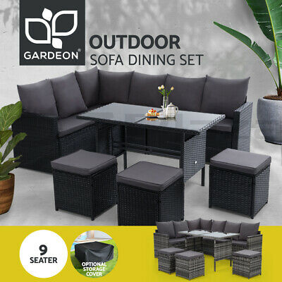 AU899.95 • Buy Gardeon Outdoor Dining Setting Lounge Patio Furniture Wicker Garden Rattan Sofa