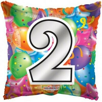 AU5.99 • Buy Number 2 Square Foil Helium Balloon 2nd Second Two Birthday Party Supplies