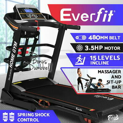 AU1399.90 • Buy Everfit Electric Treadmill Auto Incline Home Gym Exercise Run Machine Fitness