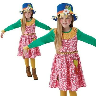 Girls Mrs Scarecrow Costume Wizard Of Oz Kids Fancy Dress Outfit Book Day New • 17.49£