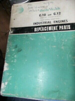 Norton Villiers C10 / C,12 Industrial Engines Replacement Parts Book 1967... • 9.99£