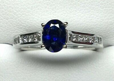 AU990 • Buy 18ct White Gold Sapphire And Diamond Ring