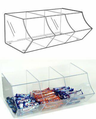 PM9710 - Pick & Mix Dispenser For Wrapped Sweets: 3 Section - 495mm (W) X 200mm • 54.40£