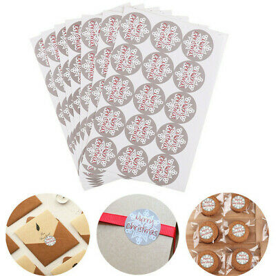 105 MERRY CHRISTMAS Stickers XMAS Snowflake Labels Seals Stickers Decoration Gif • 2.44£