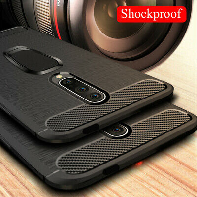 AU6.24 • Buy For One Plus 8 7 Pro 7T 6T 6 5T 3 Ring Holder Stand Carbon Fiber Slim Case Cover