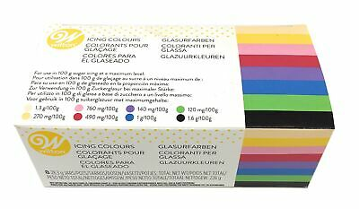 Wilton Icing Colour Concentrated Paste Gel For Food Cake Cup Cupcake Pack Of 8 • 12.66£