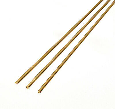 Albion Alloys - 305mm X 1.0mm Brass Rod (BR4M) (9 Pieces) # BW10 • 4.22£