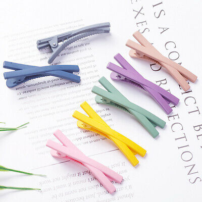 $ CDN0.99 • Buy Cute Candy Color Duckbill X Shaped Hair Clip Snap Hairpin  Barrette Accessories