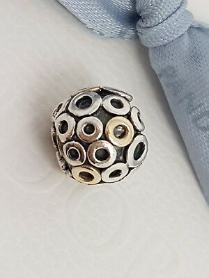 AU54.99 • Buy Authentic Pandora Two Tone Circles Charm Silver & 14ct Gold 14k 790325 Retired