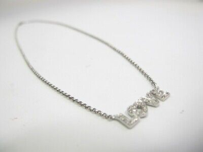 $320 • Buy 18k White Gold Diamond Love Necklace With Diamond 3.9g - Pre Owned - Gently Used