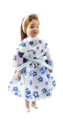 Dolls House Modern Little Girl In Party Dress 1:12 Scale Porcelain People • 11.99£