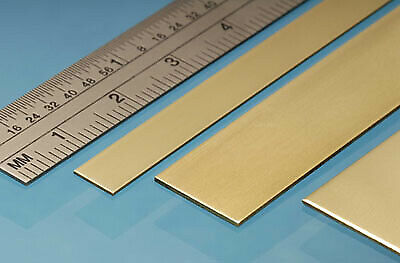Albion Alloys - 305mm Brass Strip 6mm X 0.8mm (4 Pieces) # BS7M • 4.22£