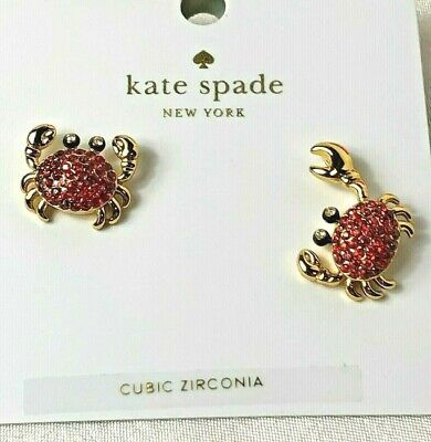 $ CDN47.44 • Buy Kate Spade New York Shore Thing Pave Crab Gold Plated Stud Earrings