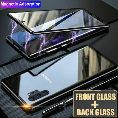 AU12.99 • Buy 360° Double Sides Glass Magnetic Case Cover For Samsung Galaxy Note10 S10 S9 S8+