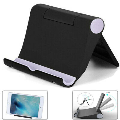 $4.49 • Buy Universal Desk Stand Holder Mount Cradle Foldable For Cell Phone Table Black