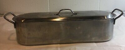 $20 • Buy FISH POACHER Inox Italy 18C V.I.S. Stainless Steel Lid Tray 18