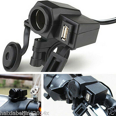 $13 • Buy Waterproof Power Socket USB Motorcycle Cigarette Lighter Adaptor Outlet Charger