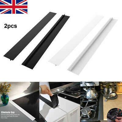 £5.98 • Buy Silicone Stove Counter Gap Cover For Cooker Worktop Spill Guard Seal Filler 2pcs