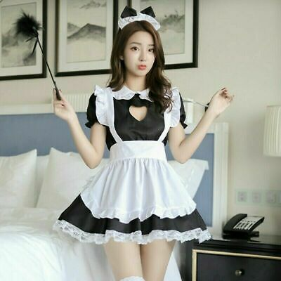$16.88 • Buy Lady Lolita Waitress Costume Women's Maid Outfit Dress Apron Suit Cosplay US