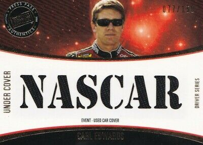 $4.99 • Buy 2008 Press Pass Eclipse Carl Edwards Event Used Car Cover  Nascar  #77/150