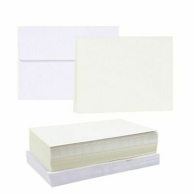 $10.99 • Buy 50 230gsm Blank Note White Half Fold Greeting Card Paper W/Envelope 7 X5  Folded