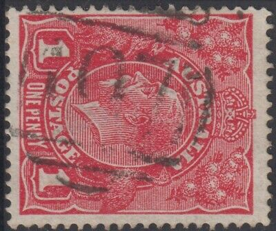 AU25 • Buy Stamp Australia 1d Red KGV With Barred Numeral 197 Glenlyon Victoria Postmark