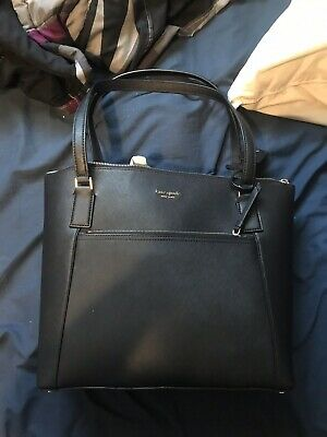 $ CDN350 • Buy Kate Spade Pocket Tote WKRU5841 - Cameron Black Leather - Crossbody Bag