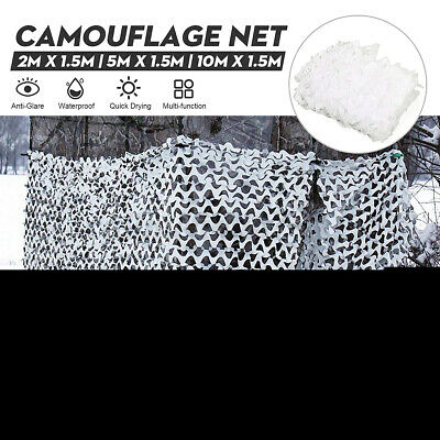 £17.29 • Buy 3 Size White Snow  Camo Net Camouflage Netting Hunting/Shooting Hide Tent