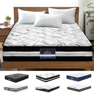 AU159 • Buy Giselle Queen Mattress Bed Size Pocket/Bonnell Spring Cool Gel Memory Foam Firm