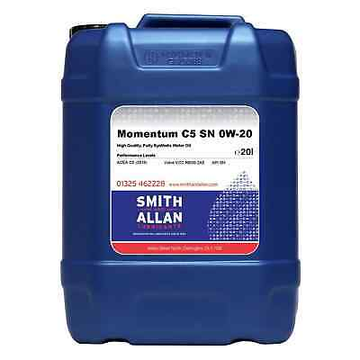 0W-20 Fully Synthetic Engine Oil ACEA C5 API SN Volvo VCC RBS0-2AE 20 Litre • 59.99£